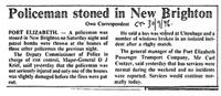 Policeman stoned in New Brighton