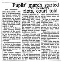 Pupils' march started riots, court told
