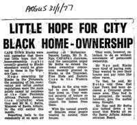 Little hope for city black home-ownership