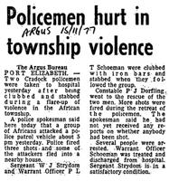 Policemen hurt in township violence