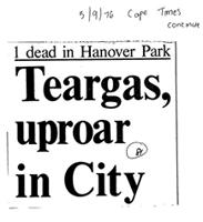 Teargas, uproar in City