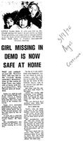 Girl missing in demo is now safe at home