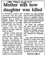 Mother tells how daughter was killed