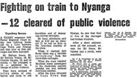 Fighting on train to Nyanga - 12 cleared of public violence