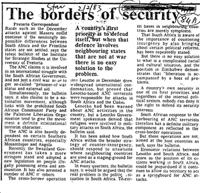 The borders of security