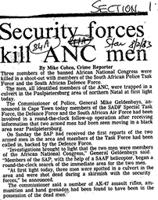 Security forces kill ANC men