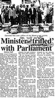 Minister 'trifiled' with Parliament