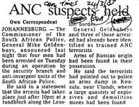 ANC suspects held