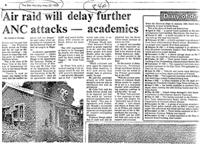 Air raid will delay further ANC attacks --- academics