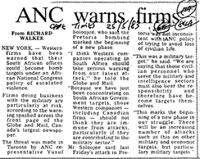 ANC warns firm