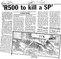 'R500 to kill a SP'