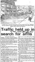 Traffic held up in search for arms