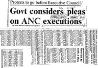 Govt considers pleas on ANC executions