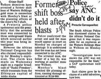 Police say ANC didn't do it