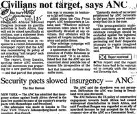 Civilians not target, says ANC