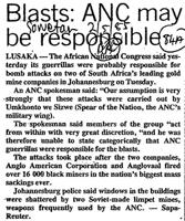 Blasts: ANC may be responsible