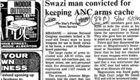 Swazi man convicted for keeping ANC arms cache