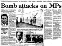 Bomb attacks on MPs