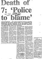 Death of 7: 'Police to blame'