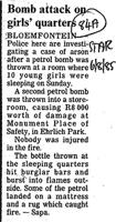Bomb attack on girl' quarters