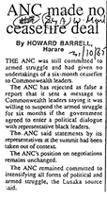 ANC made no cease fire deal