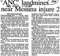 'ANC' landmines near Messina injure 2