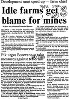 Idle farms get blame for mines
