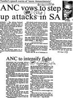 ANC vows to step up attacks in SA