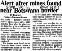 Alert after mines found near Botswana border