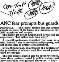 ANC fear prompts bus guards