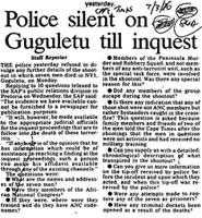 Police silent on Guguletu till inquest