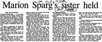 Marion Sparg's sister held