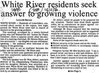 White River residents seek answer to growing violence