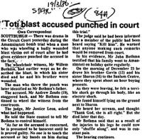 Toti blast accused punched in court