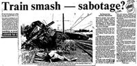 Train smash - sabotage?