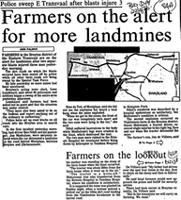Farmers on the alert for more landmines