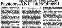 Passtoors - ANC links alleged