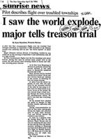 I saw the world explode, major tells treason trial