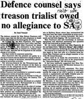 Defence counsel says treason trialist owed no allegiance to SA