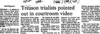 Treason trialists pointed out in courtroom video
