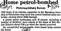 Home petrol-bombed