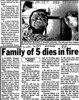Family of 5 dies in fire
