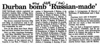 Durban bomb 'Russian-made'