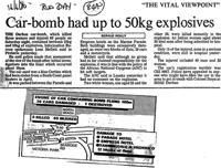 Car-bomb had up to 50kg explosives