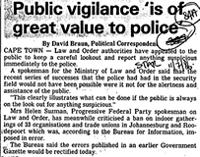 Public vigilance 'is of great value to police'
