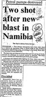 Two shot after new blast in Namibia