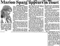 Marion Sparg appears in court