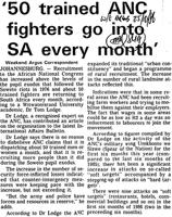 '50 trained ANC fighters go into SA every month'