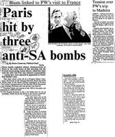 Paris hit by three anti-SA bombs