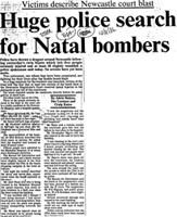 Huge police search for Natal bombers